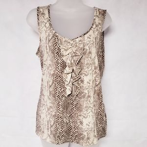 3/$25 Tahari Animal Print Tank Top